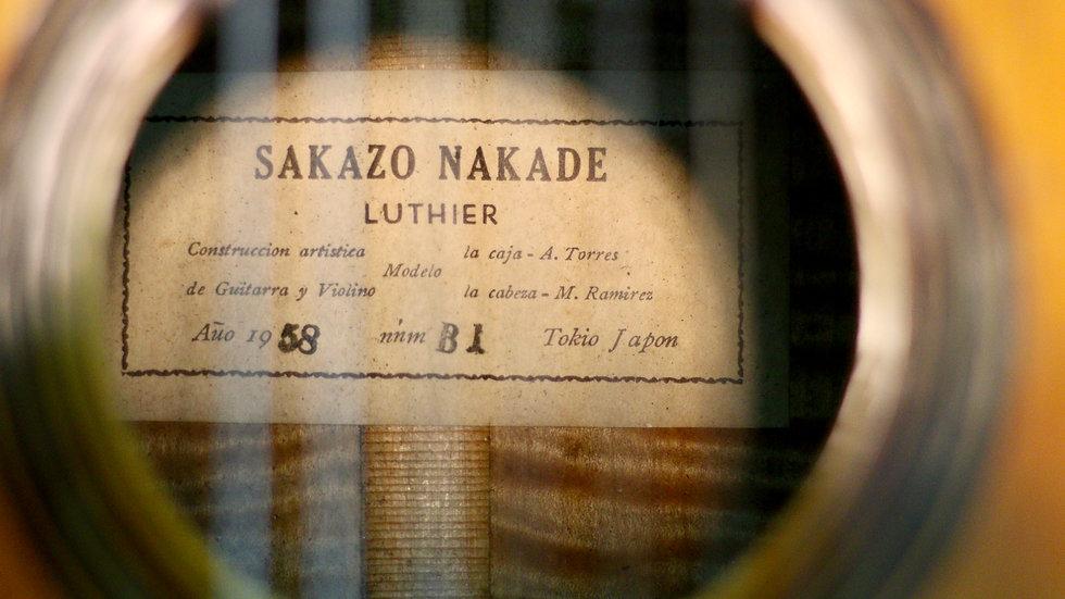 Guitar classic Sakazo Nakade B1 full solid vintage 1958