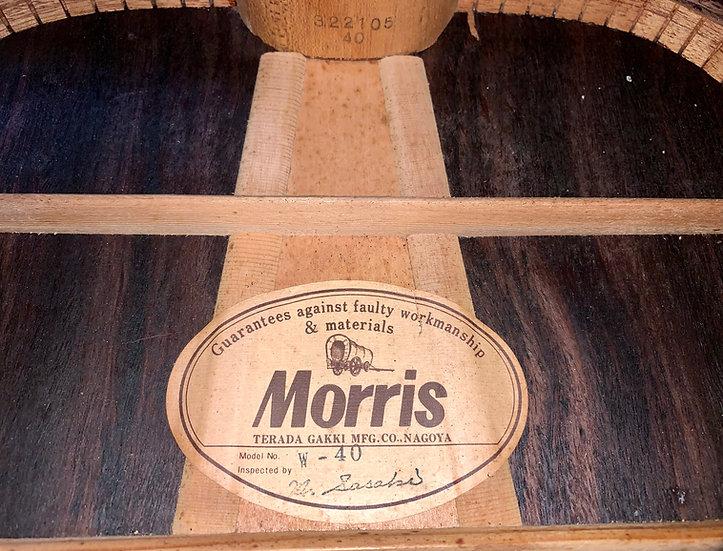 Guitar acoustic Morris W40 vintage 1976 .