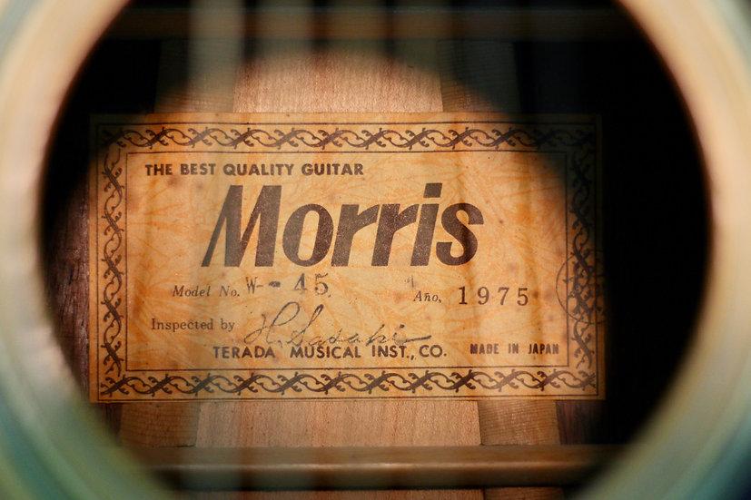 Guitar Morris W45 tem vuông cổ từ năm 1975 Jacaranda .