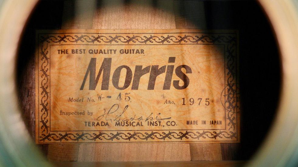 Guitar Morris W45 vintage 1975 .