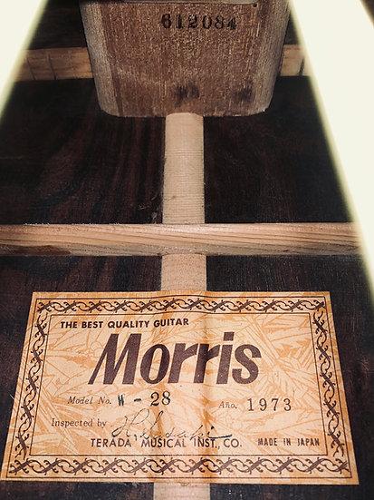 Guitar Nhật cũ Morris W28 Vintage 1973.