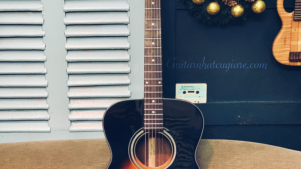 Guitar Nhật Aria Dreadnought AF-28BS Acoustic Solid Top Series.