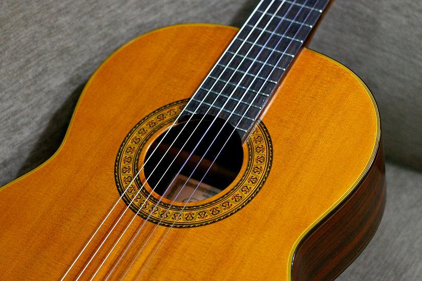 Guitar classic Abe Yasuo Zen on Gut Guitar 518 MIJ 1970s.