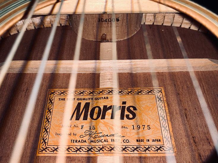 Guitar Folk acoustic Morris F15 vintage 1975 .