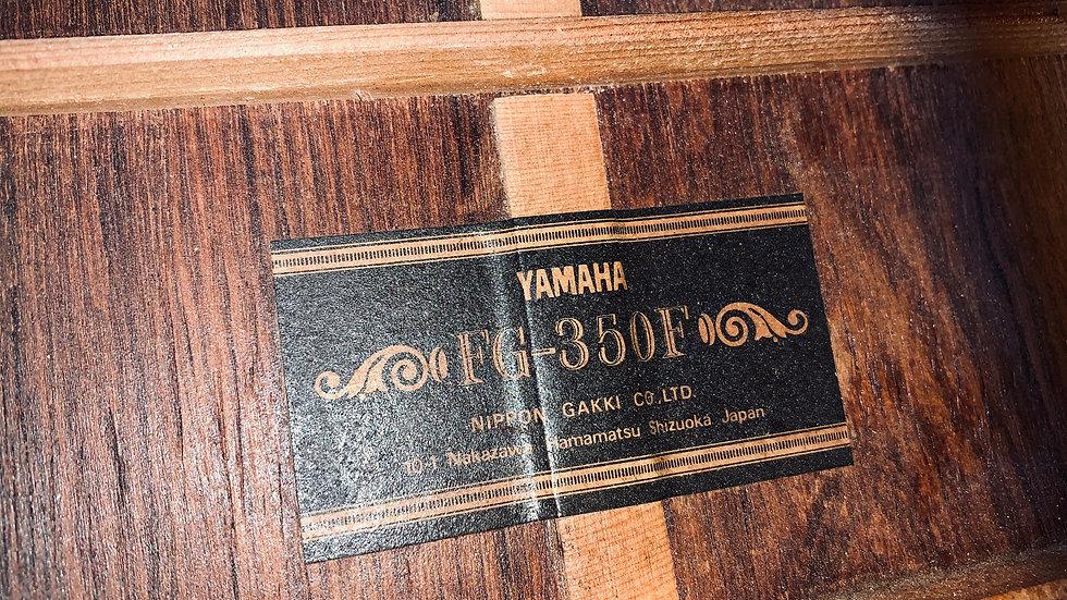 Guitar Yamaha FG350F vintage 1974.