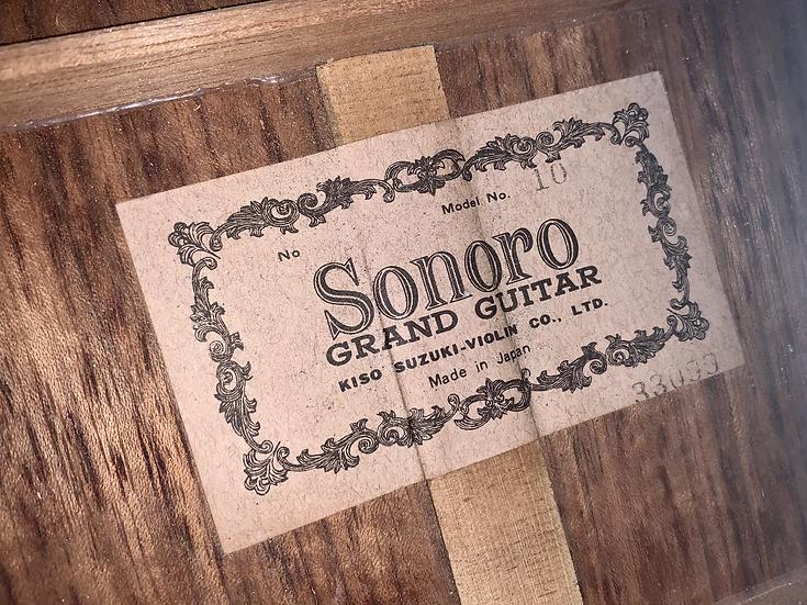 Guitar classic Sonoro No10 by Kiso Suzuki MIJ .