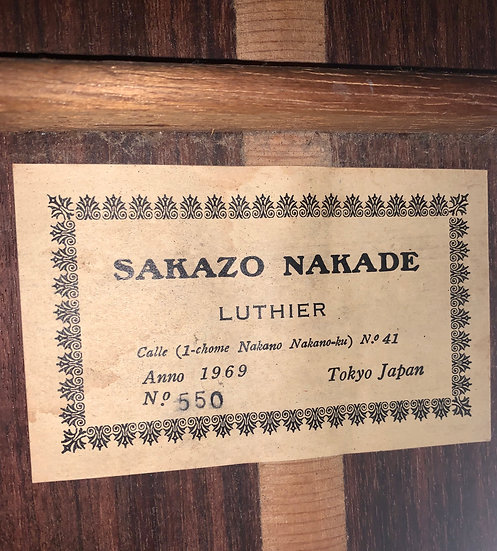 Guitar classic Sakazo Nakade no.550 vintage 1969 .