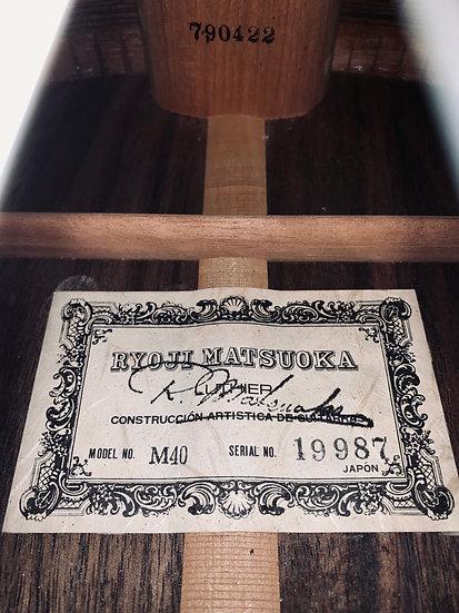 Guitar classis Nghệ nhân Ryoji Matsuoka M40 từ năm 1979