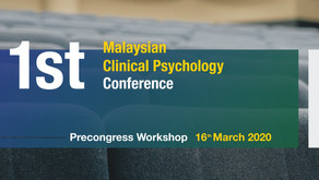 1st Malaysian Clinical Psychology Conference - Precongress Workshop