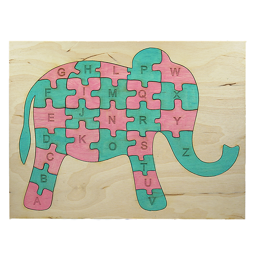 Elephant Alphabet Puzzle Small