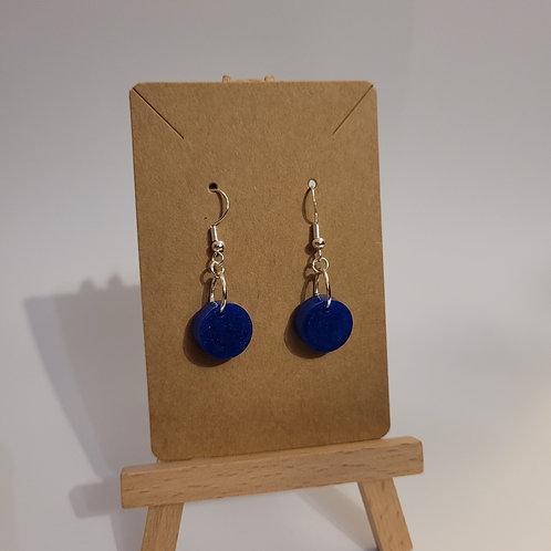 Deep Blue Shimmery Earrings