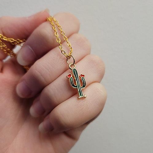 Cactus Charm Necklace