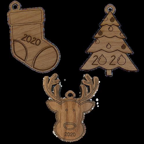 2020 Holiday Ornament Set II | Set of 3