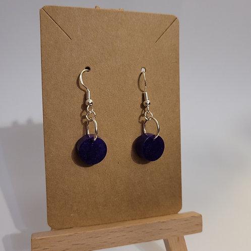 Deep Purple Shimmery Earrings