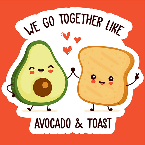 Avocado & Toast Sticker