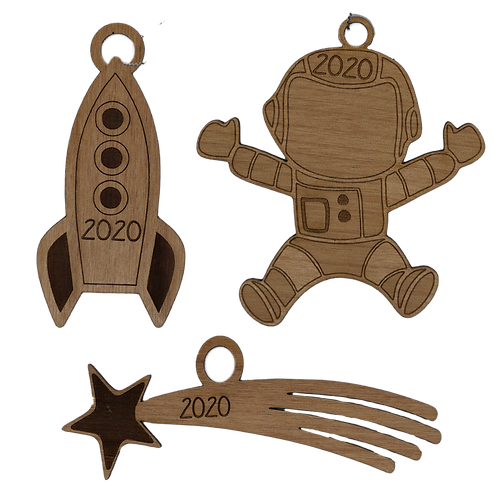 2020 Space Ornaments | Set of 3