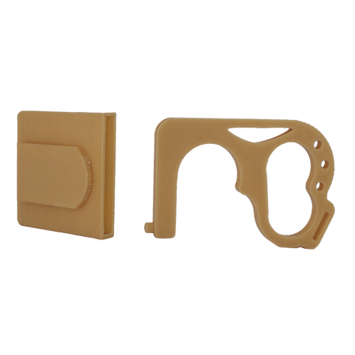Door Claw with clip-on case