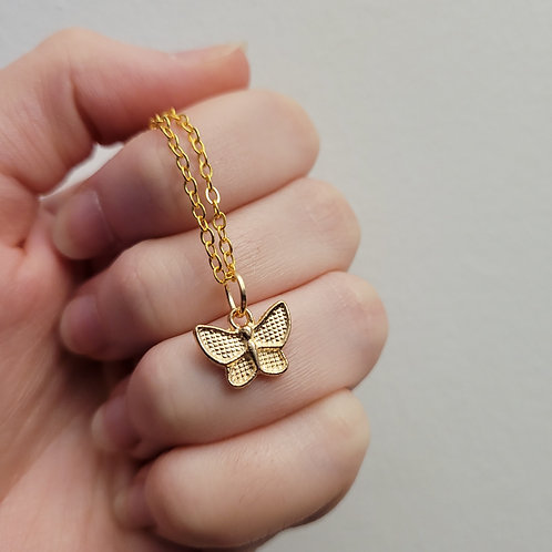 Small Butterfly Charm Necklace