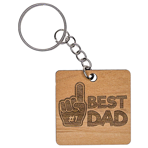 Father's Day Wooden Keychain