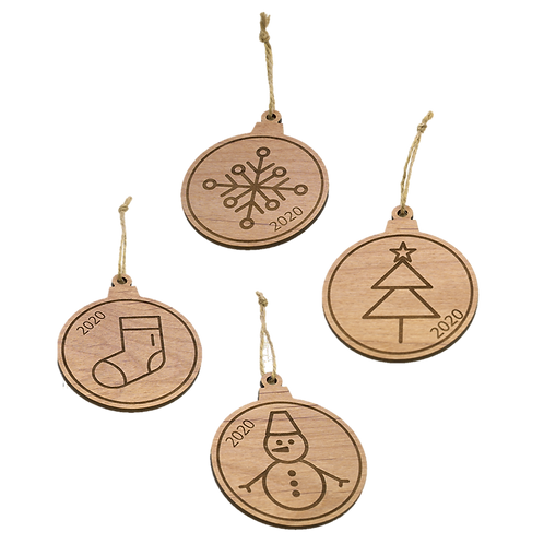 Wooden Ornaments | set of 4