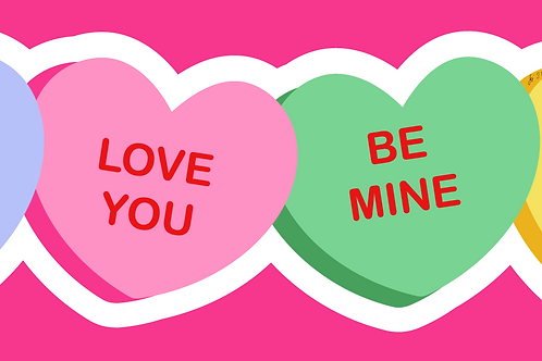 Conversation Heart Candy Sticker