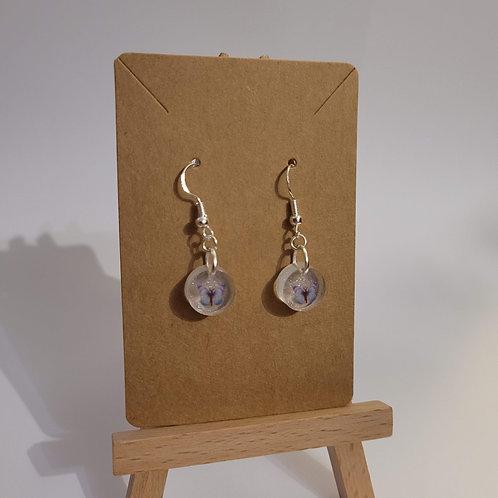 Delicate Icy Blue Butterfly Earrings