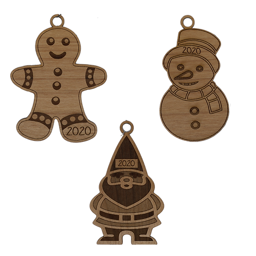 2020 Holiday Ornaments Set I  | Set of 3