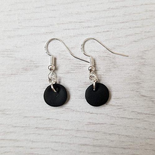 Dainty Black Dangly Earrings