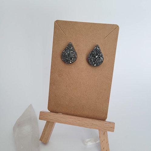 Stormy Water Droplet Earrings