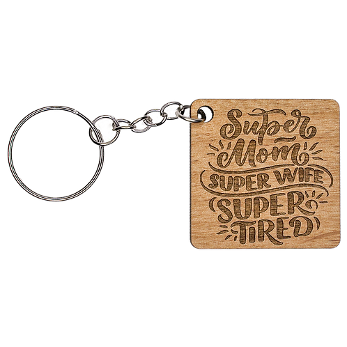 Mom Wooden Keychain