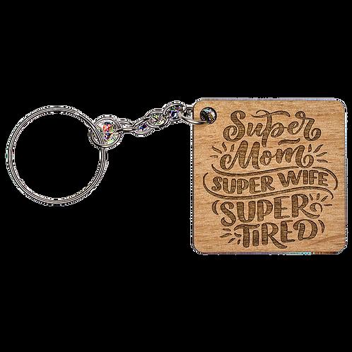Mom Wooden Keychain