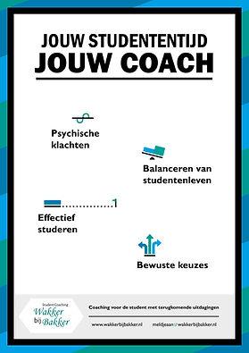 Wakker bij Bakker, student coaching, studieloopbaan begeleiding: loopbaanoriëntatie, personal branding, studiekeuze, motivatie,  functie vereniging