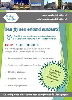 Wakker, Bakker, student coaching, commissie, bestuur, functie, ontwikkeling, balans, motivatie,  studie en studentenleven, planning, time-management