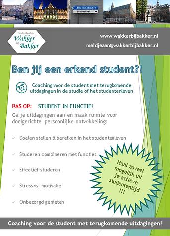 Wakker, Bakker, student coaching, commissie, bestuur, functie, ontwikkeling, balans, motivatie,  studie en studentenleven, planning