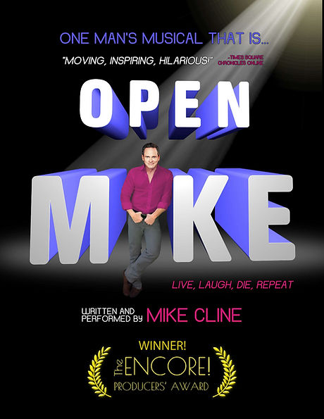 Solo show  Open Mike Michael Cline one man musical