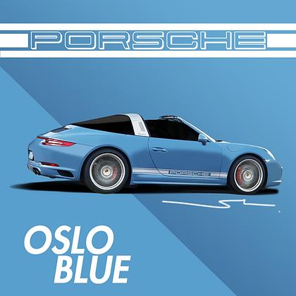 Porsche Oslo Blue