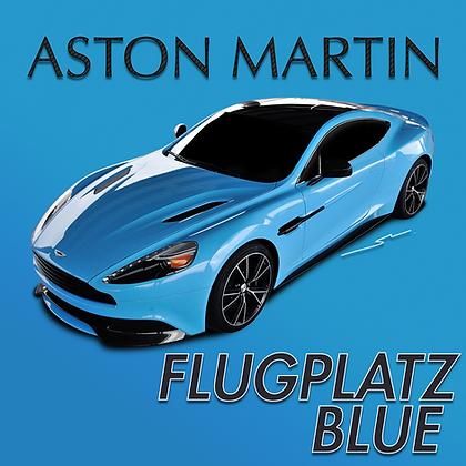 Aston Martin Flugplatz Blue