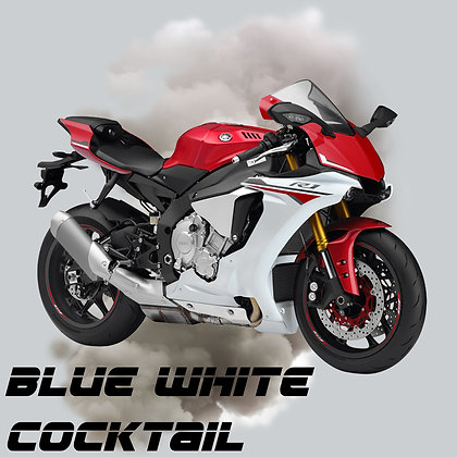 Yamaha Blue White Cocktail