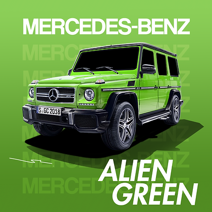 Mercedes Benz Alien Green