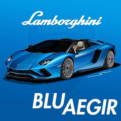 Lamborghini Blu Aegir