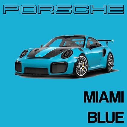Porsche Miami Blue
