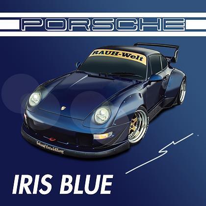 Porsche Iris Blue