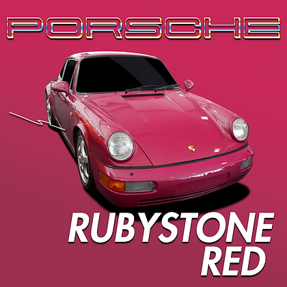 Porsche Rubystone Red
