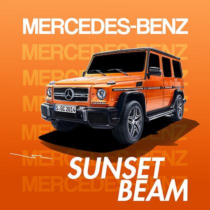 Mercedes Benz Sunset Beam
