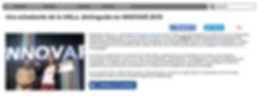 Impresión de pantalla del link