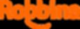 Palabra Robbina con una linea abajo simulando una sonrisa