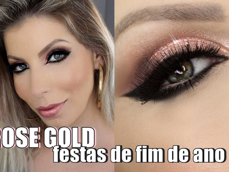 MAKE ROSE GOLD PARA ARRASAR NAS FESTAS DE FIM ANO