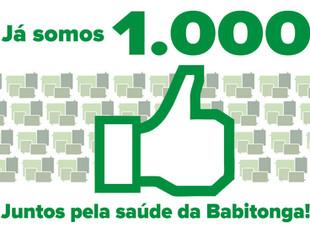 Já somos 1000! Juntos pela saúde da Babitonga