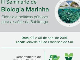Seminário com comunidade acadêmica visa reunir conhecimento sobre a saúde da Baía Babitonga
