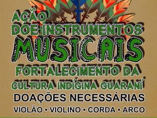 Músico de São Francisco do Sul organiza campanha de doação de instrumentos musicais para aldeias ind